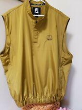 FootJoy Men's 2XL Golf Vest Waterproof Rain & Wind Shell Gold Logo Chest