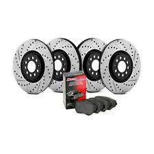 Slotted Rear Stoptech 937.44518 Street Axle Pack