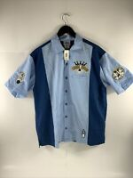 Disney Resort Bowling Shirt Strike Kings Mickey Pete Disneyland Mens M Button Up
