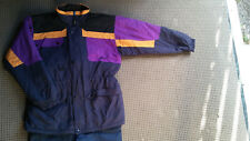 HUSKI Childs sz 16 ski jacket - FULLY FEATURED - NAVY - PURPLE