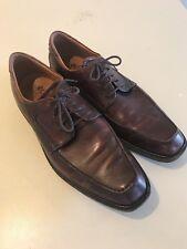 ECCO Men's Apron Toe Brown Leather Lace Up Oxford Dress Shoes 10-10.5 US