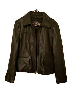 Leather Limited Women's Leather Jacket Size BLACK medium