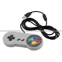 Wired USB SNES Controller Retro Gaming Joystick Joypad Gamepad For Nintendo PC