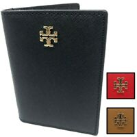 Tory Burch Women's Emerson Saffiano Leather Foldable Card ID Case Wallet