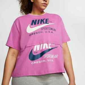 Nike Womens sportswear Icon Clash Top shirt Top PLUS SIZE 3x 3xl  Pink Blue