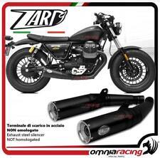 Zard 2 exhausts slipon black silencer racing Moto Guzzi V9 Bobber/Roamer 2017>