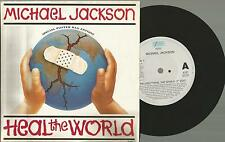 Vinyl Single 45, Michael Jackson Heal the World / Poster Bag Edt( Epic Holland )