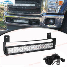 "20"" 120W LED Light Bar+ Lower Bumper Mount Bracket For 11-16 Ford F250 F350 F450"