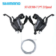1 Pair Shimano ST-EF500-7 3x7 21 Speed MTB Bike Brake Levers Set Shifter Shift