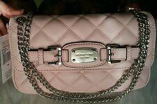 NWT MICHAEL KORS HAMILTON QUILT Small Leather Blossom Pink Adj Shouldr Bag Strap