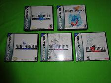 Empty Cases! Final Fantasy I Ii Iv V Vi Tatics Dawn of Souls - Nintendo Gba