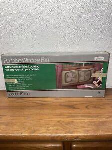 Vintage Marvin Model 2820 Portable Window Fan (Metal W/ Original Box)