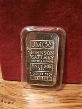 1 OZ JOHNSON MATTHEY JM .999 FINE SILVER BAR SEALED