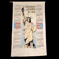 VTG Vintage Linen Calendar 1886 Statue of Liberty USA Tapestry United States