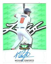 Michael Conforto 2014 Leaf Valiant Green Prismatic Refractor RC Auto Mets