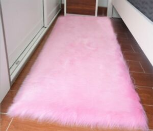 Large Faux Fur Sheepskin Rug Soft Chair Seat Cover Non Slip Fluffy Carpet Mats