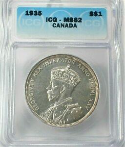 1935 Canada Silver Dollar ICG MS62 Condition  (744)