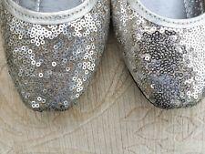 Señoras plata indio Boda Fiesta de vuelta menos Slipper Khussa zapatos talla 8