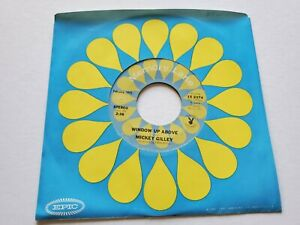 """Mickey Gilley - Fenêtre Up Above / Bouquet Of Roses 1975 Country 7 """" VG+"""