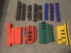LOT Of 22 Pre-Owned Martial Arts Belts Karate Tae Kwon Do  4ft 5ft 6ft Lengths