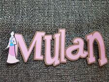 Disney Mulan title printed scrapbook page die cut