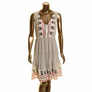 LUCKY BRAND NEW Women's Mixed Print Midi A-Line Dress TEDO