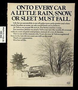 1970 Sleet Volvo Cars Vintage Print Ad 19670