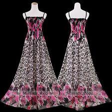 Leopard Plus Size Women Extra Long Maxi Chiffon Dress Size 20 22 24 26 28 30 32 Size