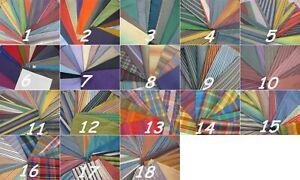6232)  Stock di 3 kg di tessuti bellissimi colorati