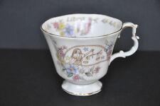 Tasse à thé fine porcelaine Royal Albert Série Zodiac – Balance