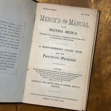 Merck Manual 1st Edition 1899 RARE Medical Reference Book Doctor Pharmacist Gift