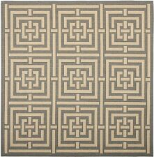 "Safavieh Courtyard CY6937-65 Grey Cream Square Area Rug, 7'10"" x 7'10"" Square"