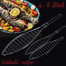 Fischbräter Fischgriller Fisch Grillzange Grillgitter Fischgrill Fischhalter Set