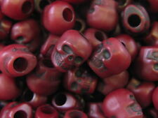 100 Skull Beads Red Exclusive 9 mm x 13mm The Beadery ABCraft Made in the USA
