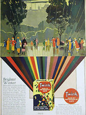 Twink Detergent & Dye 1923 LUX LEVER BROTHERS Art Deco Ad LONDON Matted Ad