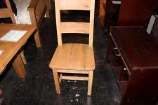 solid oak dining chair 98cm height