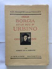 LES MASQUES VISAGES CESAR BORGIA ET DUC D'URBINO 1929 ROBERT DE LA SIZERANNE