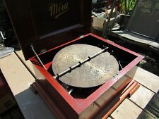 Mira Antique Single Comb 12 Inch Disc Mahogany Music Box - 24 Disc Included