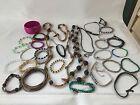 vintage boho bulk mix lot 30 bracelets bangles necklaces beads wedding party