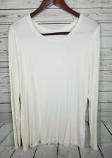 maurices long sleeve white tee NWT plus size 1