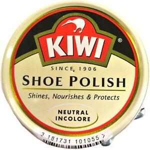 2 X KIWI NEUTRAL SHOE POLISH Shoe Boot Polish Neutral  ~ New In 50ml Tin X 2