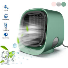 Mini USB Air Conditioning Fan Small Evaporative Cooler Air Humidifier Low Voice