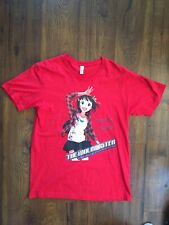 Haruka Amami The Idolmaster Red Short Sleeve Anime Graphic Shirt Men Large