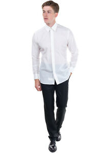 RRP €120 CARLO PIGNATELLI Shirt Size 40 / 15 3/4 / M Embroidered Logo Button-Up