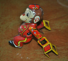 Vintage Marx Tumbling Wind Up Monkey Toy! IN WORKING CONDITION!