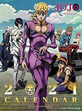 Ensky Jojo's Bizarre Adventure Golden Wind Wall Calendar 2021 Japan Official A2