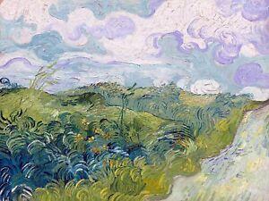 green wheat field by Van Gogh Tile Mural Kitchen Backsplash Marble Ceramic