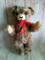 Vintage 50's German Fetcher Mohair Full Jointed Teddy Bear 15""