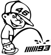 1 Stickers VR46 (45), Rossi valentino, Yamaha, 46