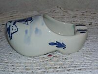 Vintage Delft Blue Hand Painted Clog Shoe Shape Porcelain Holland Ashtray
